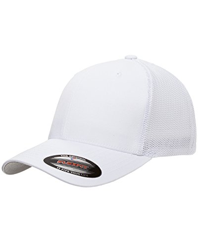 1987-93 Ford Mustang GT 5.0 Hatchback Classic Outline Design Flexfit Trucker hat Cap White