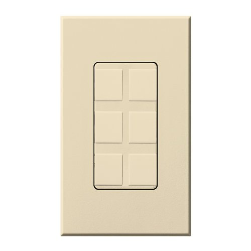 Lutron NT-6PF-BE Six Port Frame W/Blanks Nt* Beige Beige