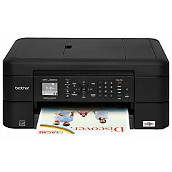 """Brother MFC-J480dw Wireless Inkjet Color All-in-One Printer with Auto Document Feeder Dash Replenishment Enabled 1.8"""""""