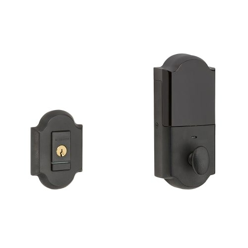 Baldwin 8252.B Evolved Arched Single Cylinder Deadbolt with Bluetooth Technology, Distressed Oil Rubbed Bronze ()