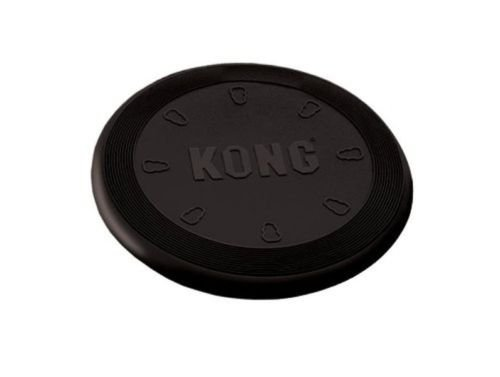 Extreme Black Flyer Dog Toy K9 Natural Rubber Frisbee Disc Large (UF3) by New