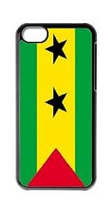 HeartCase Hard Case for Apple iPhone 5C(Sao Tome and Principe Flag )
