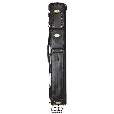 InStroke 3 Butt and 5 Shaft Cowboy Pool Cue Cases Color: Black