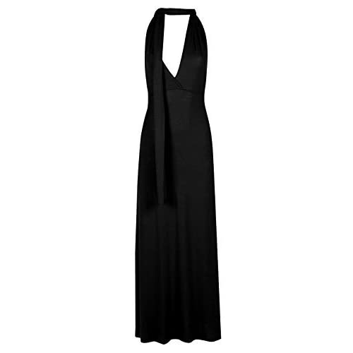 Fashion Star Oops Outlet Ladies Halter Wrap Tie Knot Neck Bandeau Womens Sleeveless Long Multiway Maxi