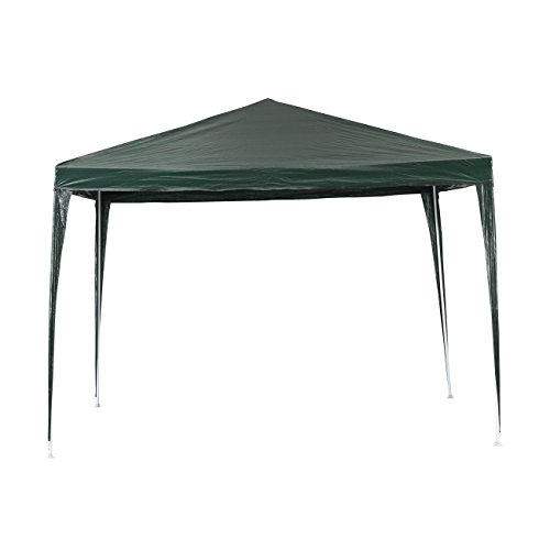 Green Gardern Canopy Tent Commercial Instant Tent, Waterproof Outdoor Party Gazebo Tent with UV Coated , 10 x 10 Feet, Green