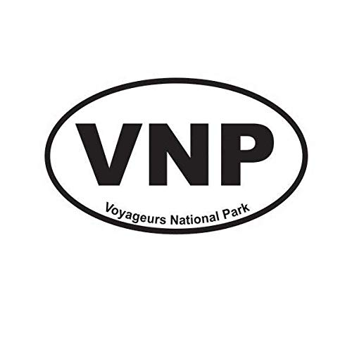 (ION Graphics Voyageurs National Park Oval Sticker Decal Vinyl Euro VNP 5