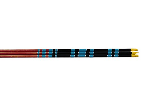 Rose City Archery Port Orford Cedar Fancy Crown Dipped, Crested and Nocked Shafts (12 Pack), 11/32
