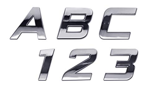 Personalized Set of Chrome Auto Letters and Numbers - Sport ()