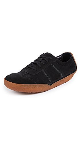 Clarks Mens Miligan Sneakers In Camoscio Nero