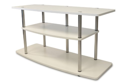 Convenience Concepts Designs2Go 3-Tier Wide TV Stand, White