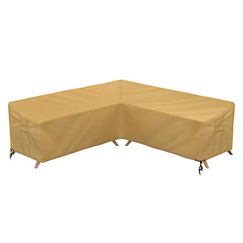 Sunkorto Patio V-Shaped Sectional Sofa Cover, Furniture Cover Garden Couch Cover Waterproof & ...