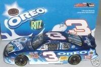 Dale Earnhardt Jr #3 Blue 2002 Oreo Ritz Monte Carlo Daytona 300 Non Raced Winning Paint Scheme Busch Series 1/24 Scale Action Racing Collectables Hood, Trunk Opens