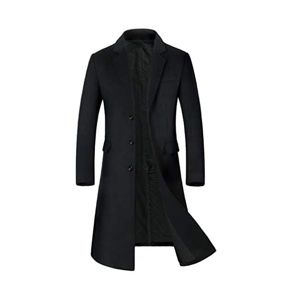Hommes Long Manteau en Laine Épaissir Trench Vestes en Cachemire Affaires Casual Pardessus en Laine Long Parka