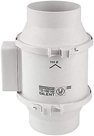 S&P S&P TD160/100 - Ventilador (160m/hr, 10,1cm)