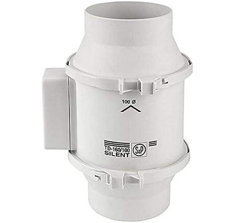 Ventilador Extractor De Tubo 4 Pulgadas Silenciador De Cocina Extractor De Humos De Ba/ño Ba/ño Extractor Potente ZHAOSHUNLI 828