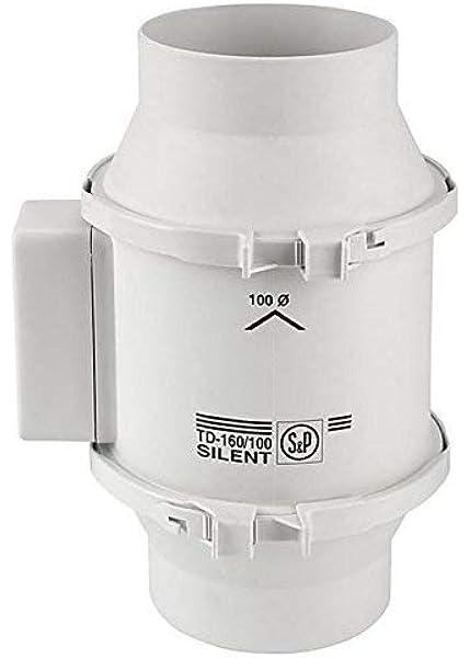 S&P S&P TD160/100 - Ventilador (160m/hr, 10,1 cm): Amazon.es: Jardín