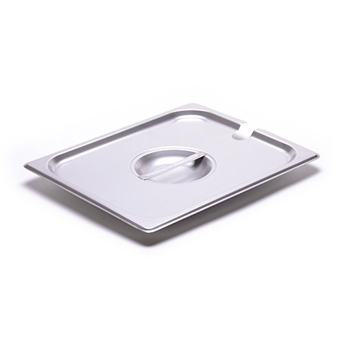 Allied Buying Corp CSTC-1200S Half-Size Steam Table Pan Slotted Cover For 24 Gauge Stainless Steel Steamtable Pans