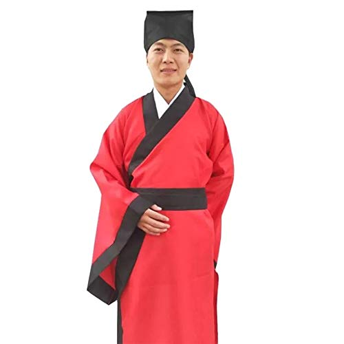 DAZISEN Chinese Ancient Traditional Clothes - Men Classical Chinese Style Hanfu, Style 08, US 180 = Tag -