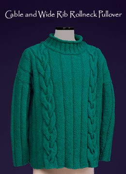 (121 Vermont Fiber Pattern Cable & Wide Rib Rollneck Pullover)