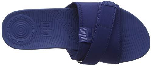 Blue Gris Slide FitFlop Neoflex Bout 043 Blue Royal Femme Argenté Ouvert Sandales vYUYx6n
