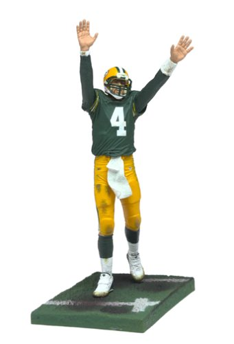 McFarlane Toys NFL Sports Picks Series 7 Action Figure Brett Favre (Green Bay Packers) Green Jersey Brett Favre Green Bay Packers