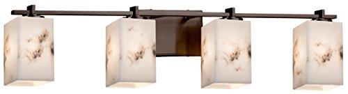 Justice Design Group Lighting FAL-8444-15-DBRZ LumenAria Era 4-Light Bath Bar, Dark Bronze