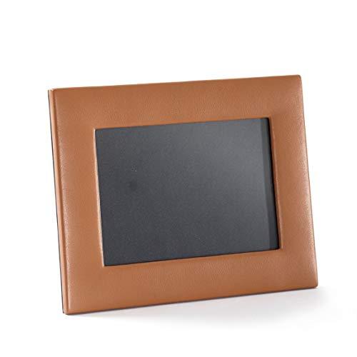 Photo Leather Grain - 5X7 Landscape Photo Frame - Full Grain Leather - Cognac (Brown)