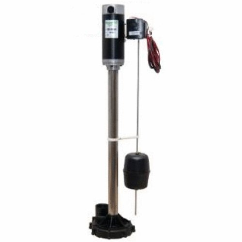 Zoeller 585-0005 Aquanot II Battery Backup Pedestal Sump Pump System with Electronic ()