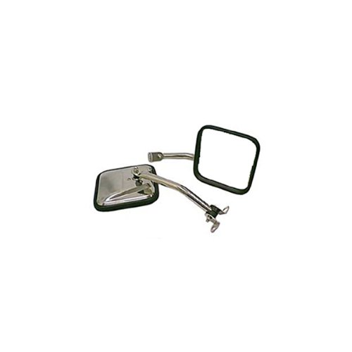 Rugged Ridge 11005.06 CJ Style Stainless Side Mirror - Pair