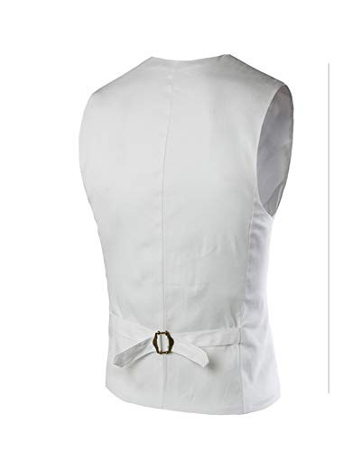 Manche Business Blanc Homme Sans Costume Veste Gilet qwnxAOIaB