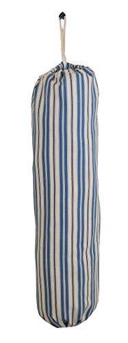 - Plastic Grocery Bag Holder and Dispenser - XL Blue Stripes