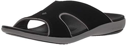 Spenco Women Kholo Plus Slide Sandal, Onyx, 6 Wide US
