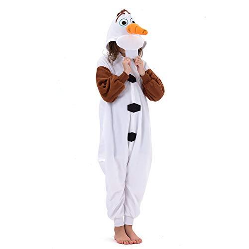Olaf Costume For Girl (Beauty Shine Unisex Child Olaf Costume Halloween Cosplay Pajamas (125))