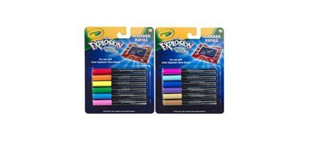 Crayola Color Explosion Glow Board Marker Refill Electric Colors by Crayola