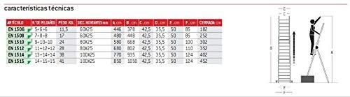FARAONE ESCALERA PROFESIONAL EN1500 EN 1506. 5+6+6pelda/ños LCS