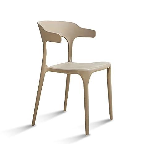 Xin-stool (Quantità: 3) Sedia di pranzo semplice di plastica moderna ...