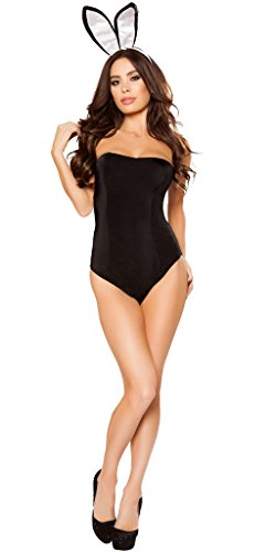 Sexy Mansion Bunny Women's Halloween Costume - Black - -