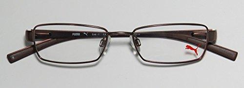 Puma 15360 Exa-I Mens/Womens Designer Full-rim Eyeglasses/Eyeglass Frame (49-16-140, Brown)