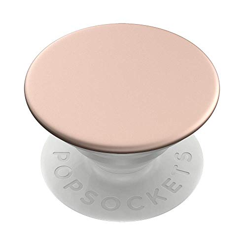PopSockets PopGrip: Swappable Grip for Phones & Tablets - Aluminum Rose Gold