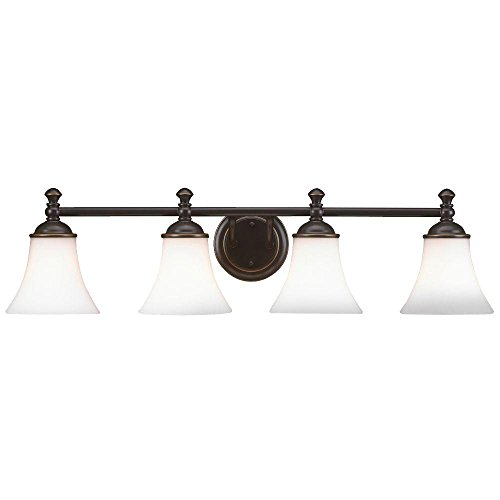 Hampton Bay 4-Light Crawley Oil Rubbed Bronze Vanity Fixture (Hampton Bay Ceiling Fan Light Cover Replacement)