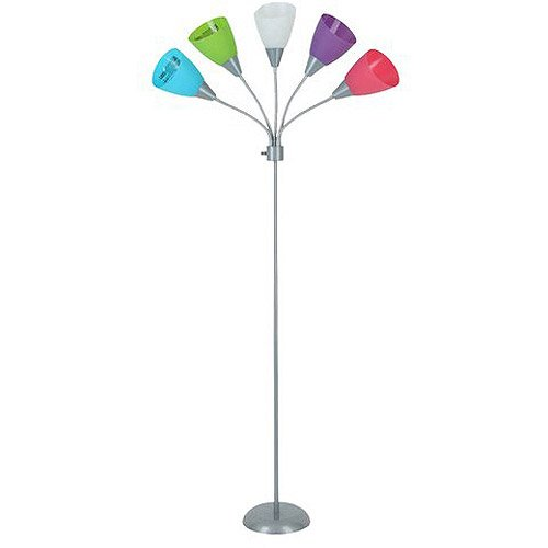 Your zone 5 light floor lamp pink amazon aloadofball Choice Image