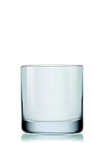 Crystalex Blues Whiskey Tumbler Glasses, Classic Design, 13.4-Ounce, Set of 6
