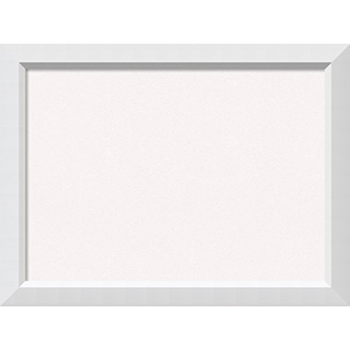 Amanti Art Framed Cork Board Blanco White: Outer Size 32 x 24, Large by Amanti Art