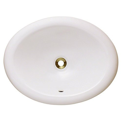 Polaris Sinks P7191OW White Overmount Porcelain Vanity Bowl by Polaris Sinks by Polaris Sinks