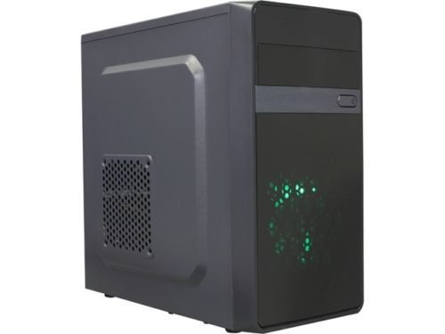 DIYPC MA01-G Black/Green USB 3.0 Micro-ATX Mini Tower Gam...
