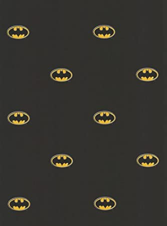 Black Batman Logo DC Comics Accent Decor Wallpaper Roll