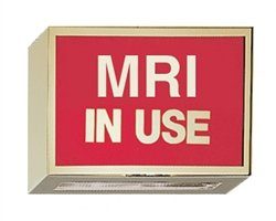 Illuminated Darkroom Sign - MRI In Use by Colortrieve