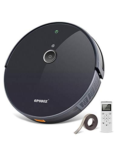 Robotic Vacuum Cleaner, with 1800Pa Ultra Strong Suction, Robot Pet Hair Cleaning, Smart Navigation, 360