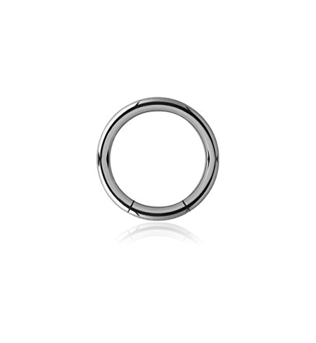 Bubble Body Jewelry Titanium Smooth Segment Ring 2mm Gauge 12g 5/64 ()