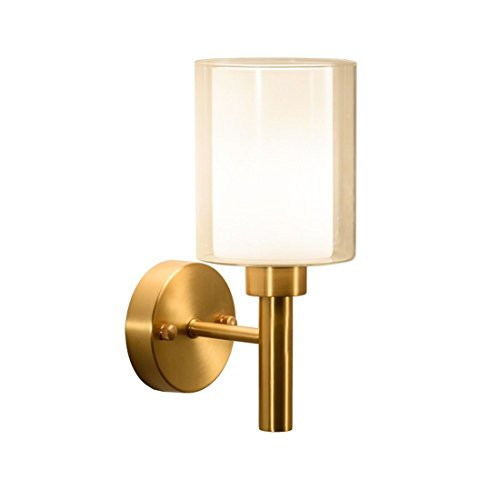 Porcelain Brass Sconce (LED Wall Lights Wall Sconce Light Fixture Up Down Decorative Wall Lighting Brass Wall Lights Single Head Solid Brass Bedroom Bedside Wall Lights for Living Room Bedroom Bathroom Kitchen Dining Room1)